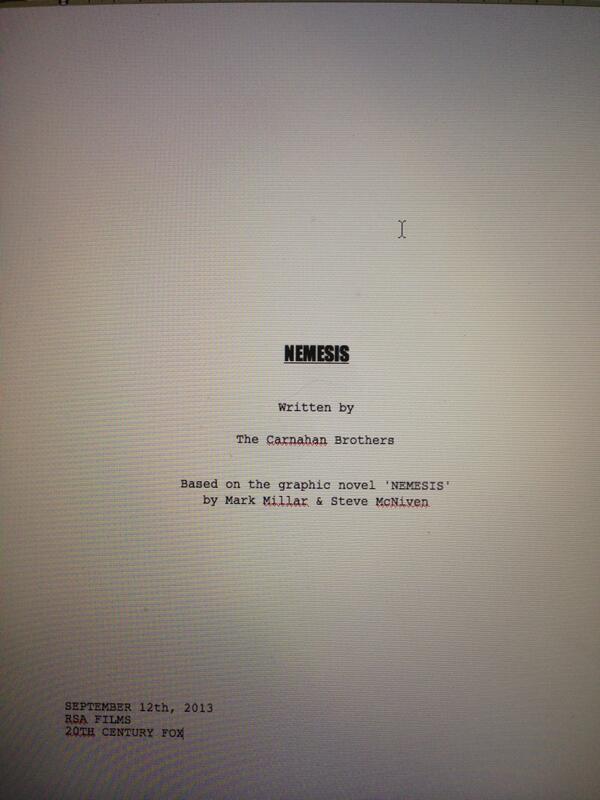 Nemesis: completata la sceneggiatura