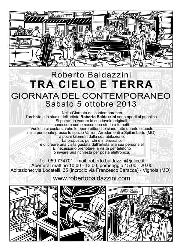 """Roberto Baldazzini apre il suo studio per la """"Giornata del Contemporaneo"""""""
