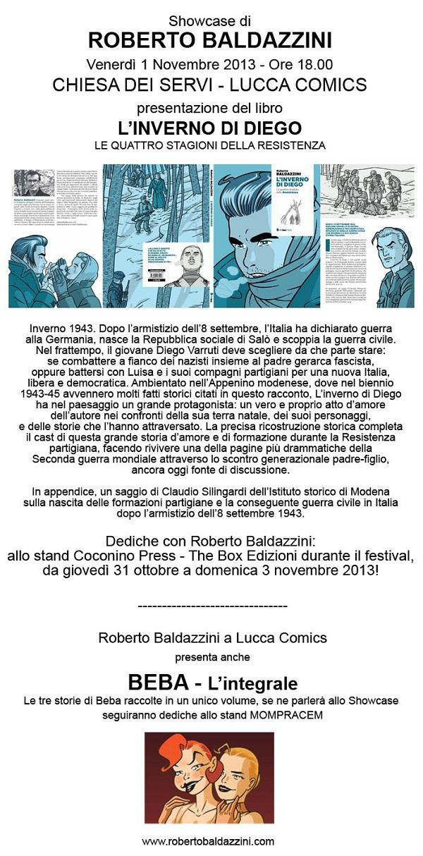 """Roberto Baldazzini presenta """"L'inverno di Diego"""" a Lucca Comics & Games 2013"""