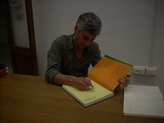 """Cyril Pedrosa disegna per i suoi lettori dopo l'incontro """"Andata e ritorno"""""""