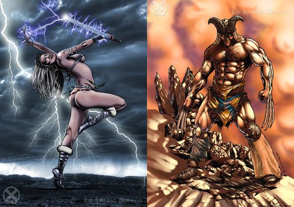 Tempesta e Wolverine di Walter Trono. Clicca sull'immagine per vedere tutti gli X-Omaggi.