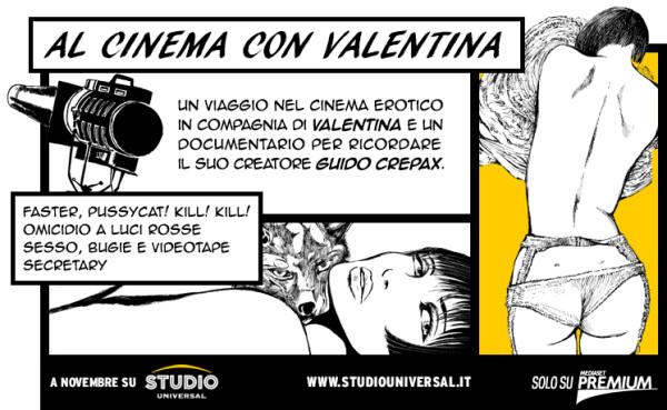 Studio Universal Presenta: al cinema con Valentina, Speciale Guido Crepax