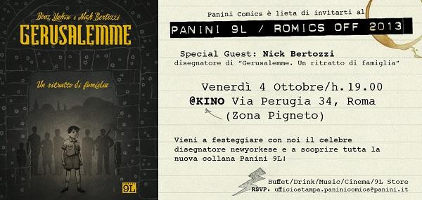 Panini 9L e Nick Bertozzi a Romics 2013