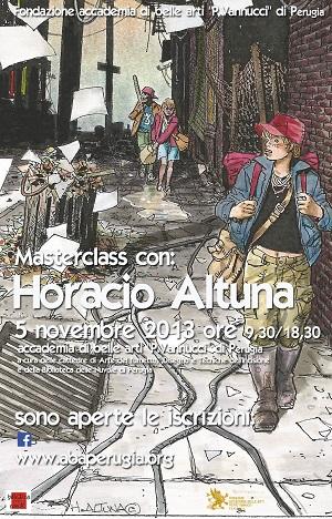 Incontro con Horacio Altuna  all'Accademia di Belle Arti di Perugia