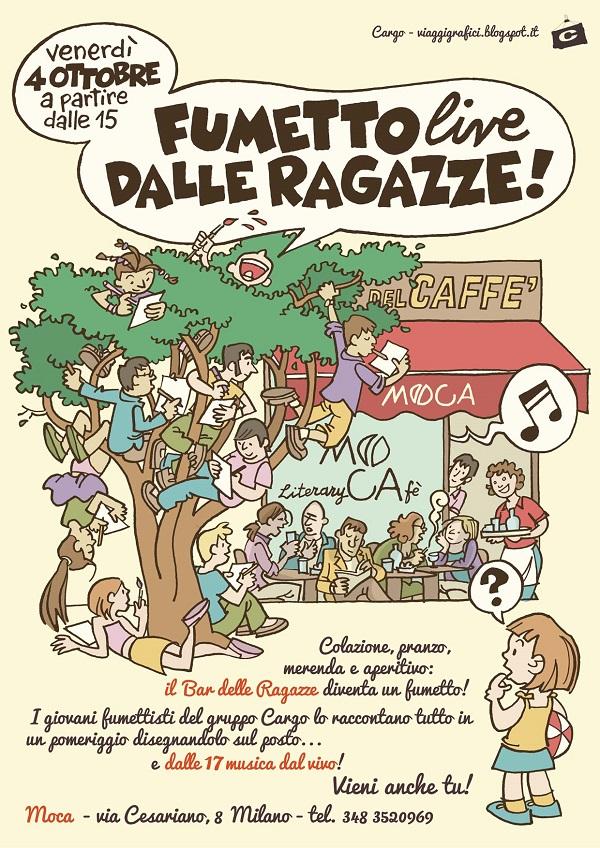 Fumetti dal vivo nell'evento organizzato dal collettivo Cargo