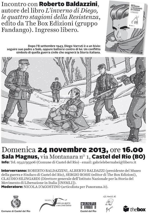 Domenica 24 novembre incontro con Roberto Baldazzini a Castel del Rio (BO)
