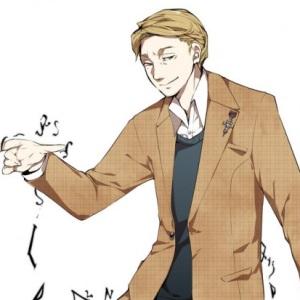 Lo scrittore Dan Brown in versione manga