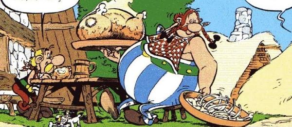 Asterix e Obelix a tavola
