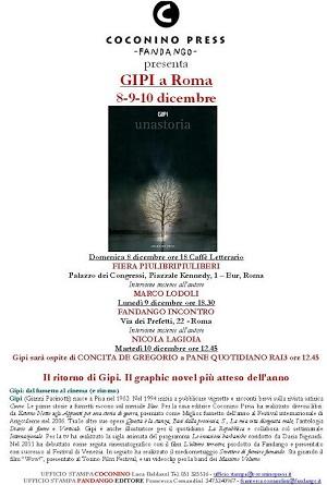 """Coconino-Fandango presentano: Gipi a Roma. Tre appuntamenti per la presentazione del volume """"Unastoria"""""""