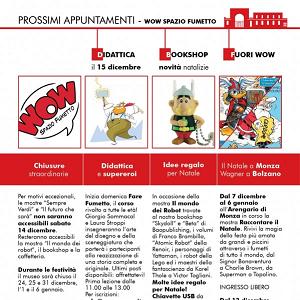 Gli appuntamenti di Dicembre del museo WOW Spazio Fumetto di Milano