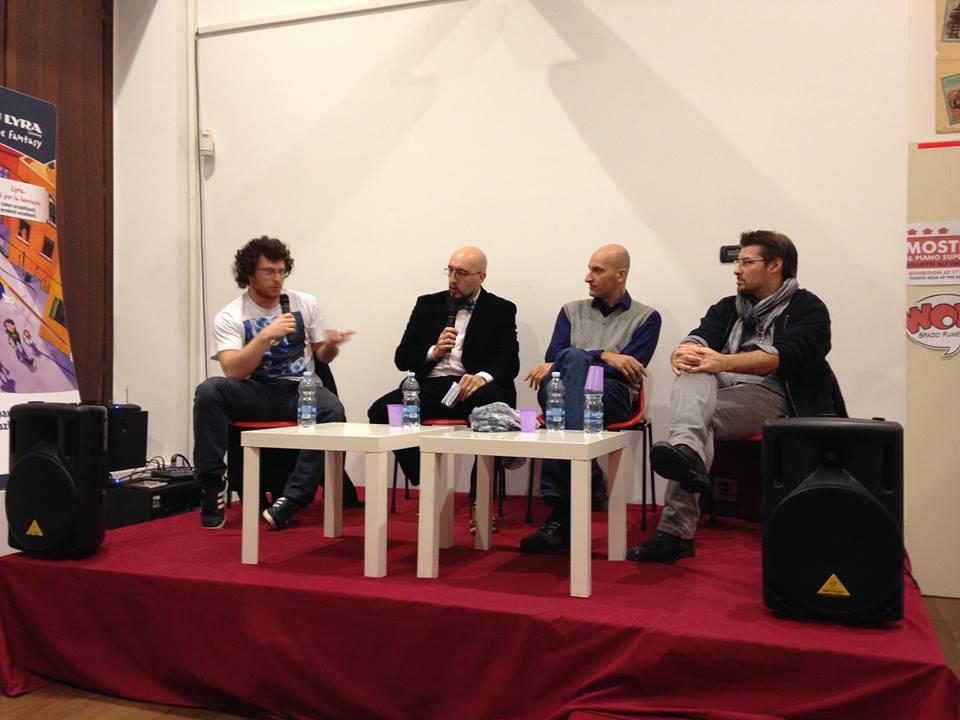 I robot di Nathan Never! Cronaca dell'incontro con Ivan Calcaterra, Max Bertolini e Mirko Perniola