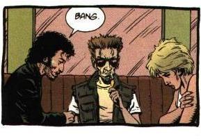Il trio di protagonisti. Dal n. 1, p. 40. © dc Comics/Vertigo.