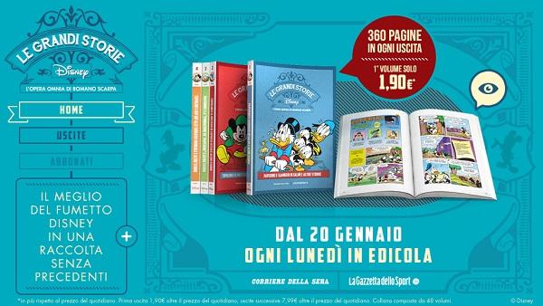Dal 20 gennaio Le Grandi Storie Disney, l'opera omnia di Romano Scarpa, con la Gazzetta dello Sport Romano Scarpa In Evidenza Gazzetta dello Sport Disney