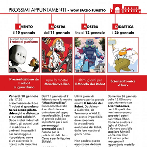 Gli appuntamenti di gennaio del museo WOW Spazio Fumetto di Milano