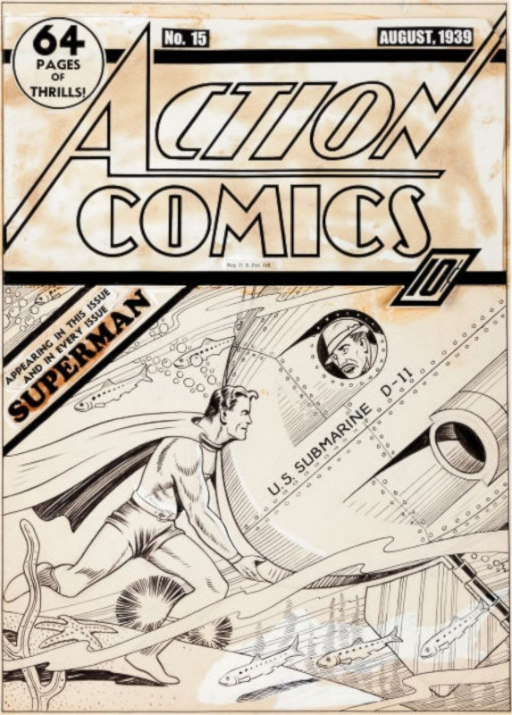 Cover originale Action Comics 15 all'asta a New York