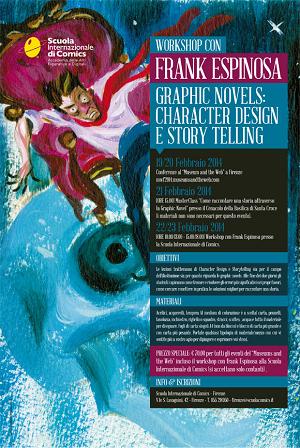 Torna in grande stile a Firenze con una serie di incontri ed un esclusivo workshop l'autore Frank Espinosa