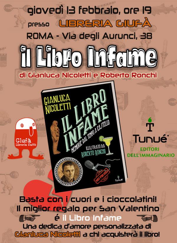 """Presentazione, presso la Libreria Giufà di Roma, de """"Il Libro Infame"""" di Gianluca Nicoletti e Roberto Ronchi"""