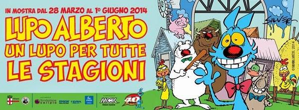 """il museo WOW Spazio Fumetto di Milano ospita la mostra su Lupo Alberto """"Un Lupo per tutte le stagioni"""""""