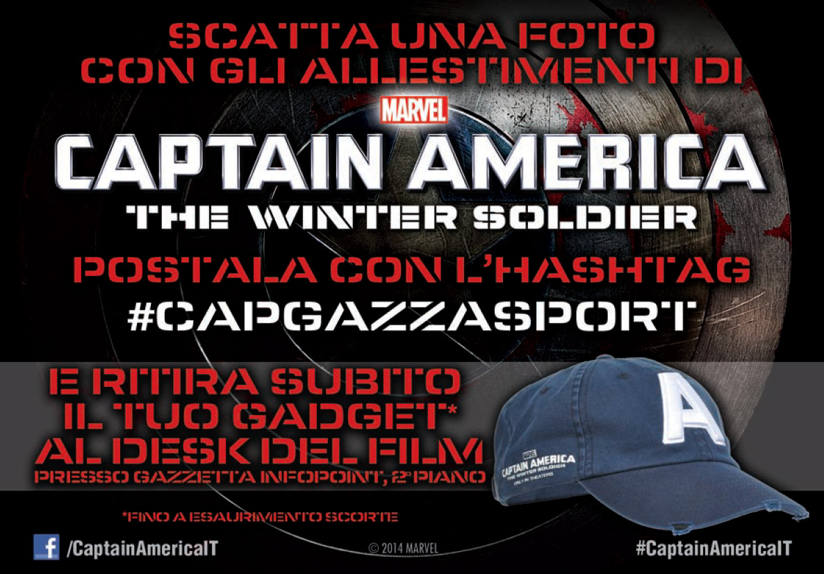 Captain America: The Winter Soldier protagonista a Milano tra moda e sport
