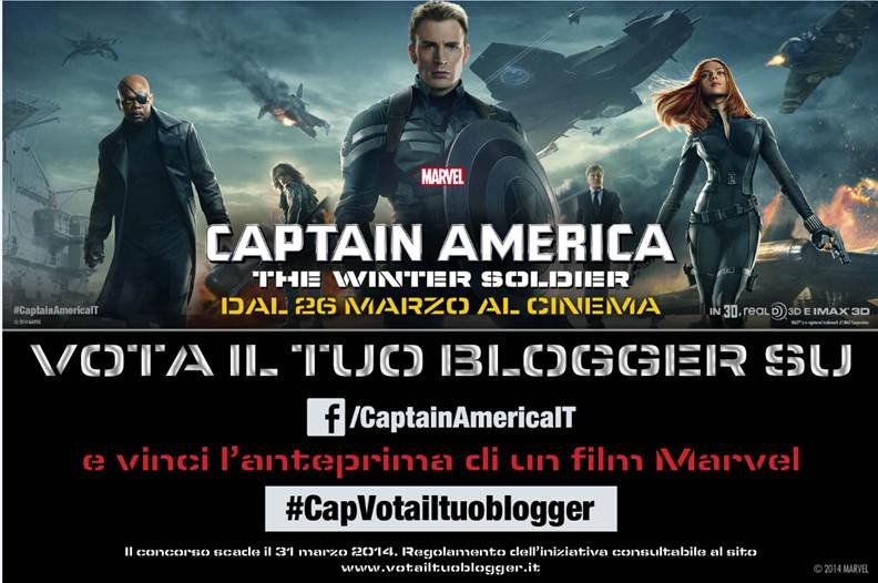 Captain America: The Winter Soldier - Vota il tuo blogger e POD Vedova Nera