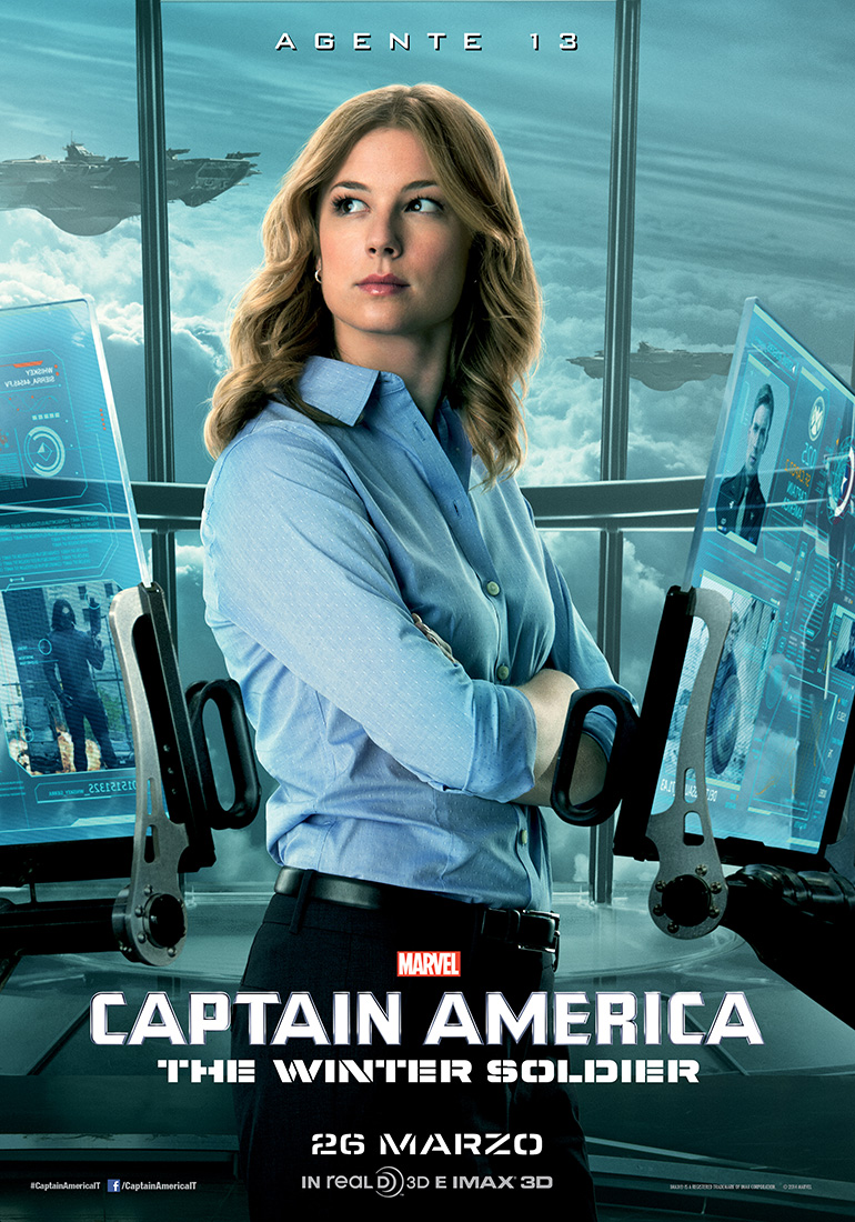 Captain America: The Winter Soldier - il character banner dell'Agente 13
