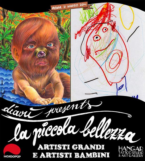 """""""La Piccola Bellezza"""" mostra collettiva di artisti adulti e bambini a cura di David """"Diavù"""" Vecchiato"""