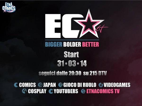"""Lunedì 31 marzo arriva """"Etna Comics TV"""""""