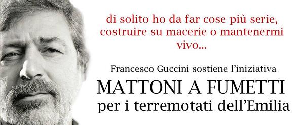 """Francesco Guccini testimonial dell'iniziativa """"Mattoni a Fumetti"""""""