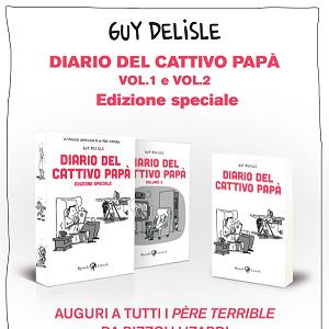"""Rizzoli Lizard presenta il secondo volume, con edizione speciale, del """"Diario del Cattivo Papà"""" di Guy Delisle"""