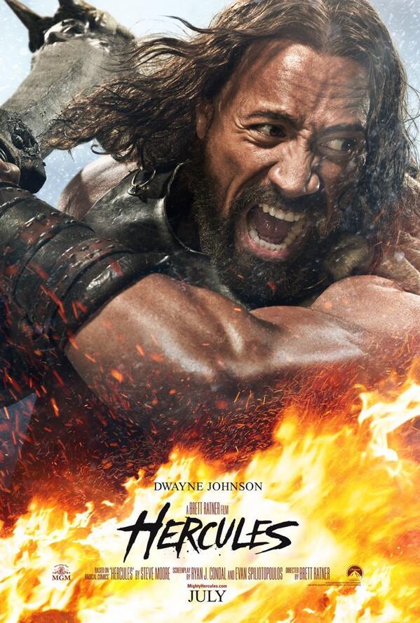 Il poster ufficiale di Hercules con Dwayne Johnson