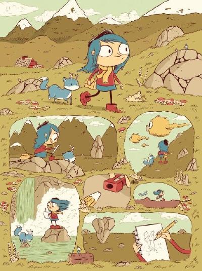 Luke Pearson ci porta alla scoperta di Hilda, il troll e del loro mondo