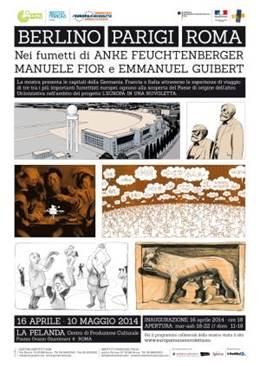 """""""Berlino-Parigi-Roma"""" mostra di fumetti a La Pelanda-Testaccio Roma"""
