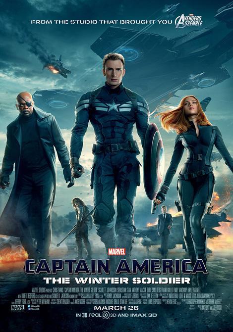 Captain America: The Winter Soldier ancora primo al Box Office USA