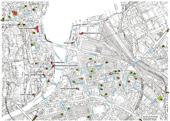 1.cartina dei luoghi del festival