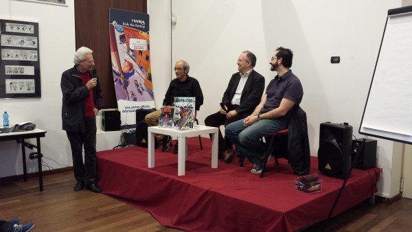 Lukas al Wow Museo del fumetto con Michele Medda e Michele Benevento