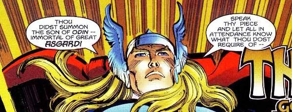 L'inglese biblico di Thor: da Stan Lee a Walter Simonson