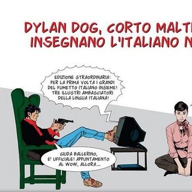 """Edizioni Edilingua presenta """"Dylan Dog, Corto Maltese e Julia insegnano l'italiano nel mondo!"""""""