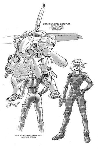 Studi di Giancarlo Olivares per la serie
