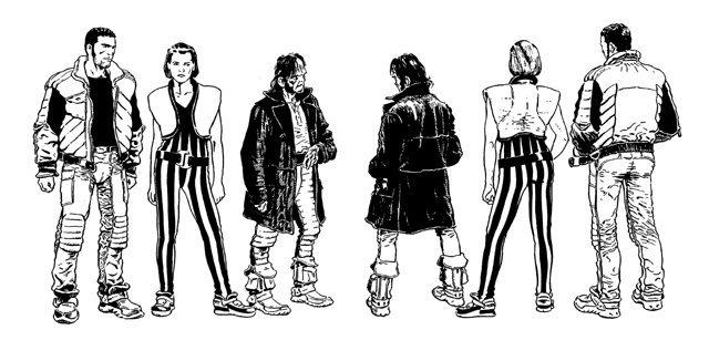 I tre protagonisti della serie: Helena, Swan e Colter