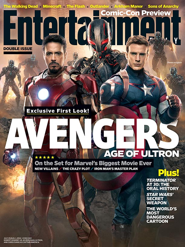 Avengers: Age of Ultron sulla cover di Entertainment Weekly