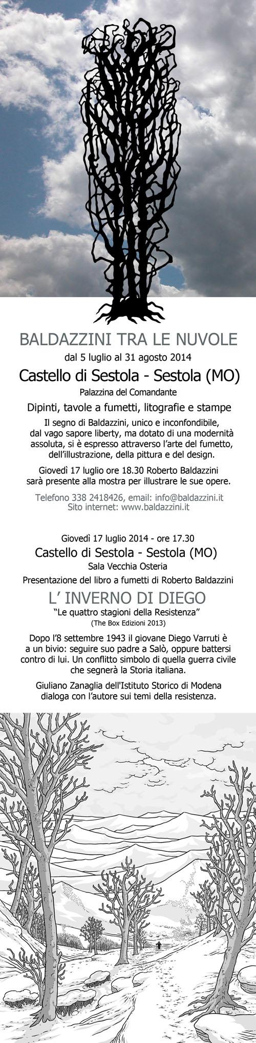 Mostra personale di Roberto Baldazzini al Castello di Sestola (MO)