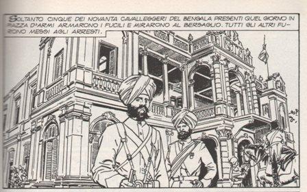 """Vignetta tratta da """"La Rivolta dei Sepoy"""""""