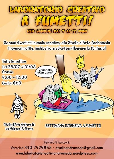 """Ultimi posti per il """"Laboratorio creativo a Fumetti Estate 2014"""" di Studio Andromeda"""