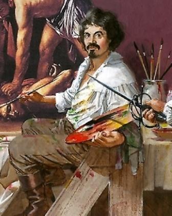 """Partciolare della copertina di """"Uccidete Caravaggio!"""""""