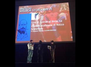 La premiazione di Giuseppe Palumbo al Napoli Comicon 2014