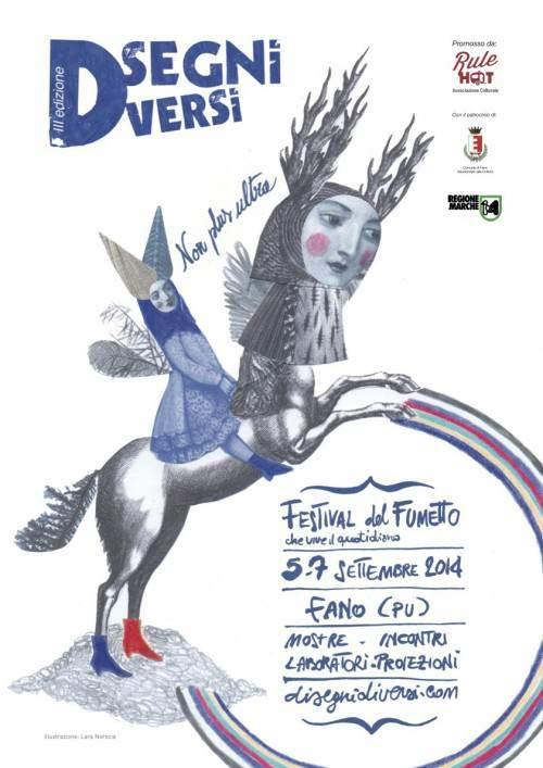 Dal 5 al 7 settembre 2014 torna il festival del fumetto Disegni Diversi