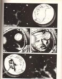 """Tavola tratta da """"Il lato oscuro della luna"""" disegni di Matteo Mosca"""
