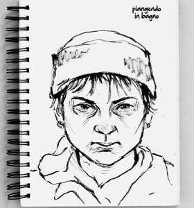 Uno dei tanti bozzetti dell'autrice disegnati durante la terapia, inseriti nel racconto