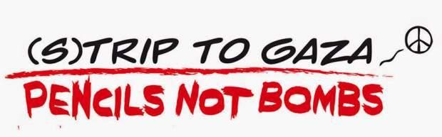 Un invito alla campagna (s)trip to Gaza, pencils not bombs