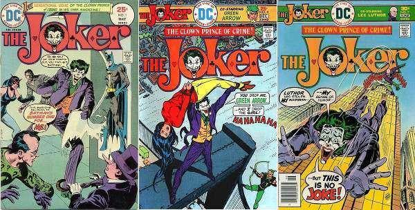 Alcune copertine della serie dei 1975-76 The Joker